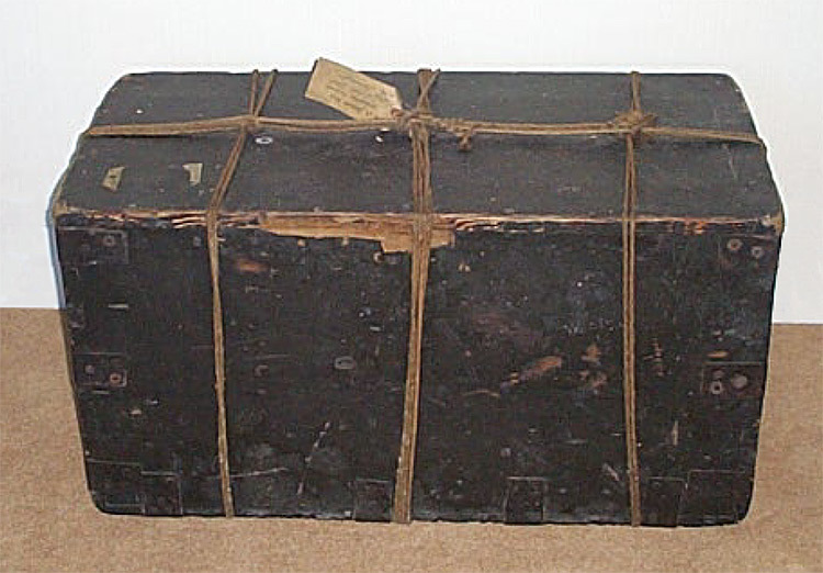 Picture of the original Joanna Southcott's Box, now in the custody of the Panacea Charitable Trust.