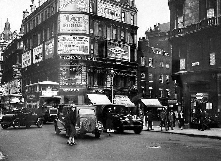 Crime and Banditry Poster displayed in Piccadilly Circus June/July 1932.